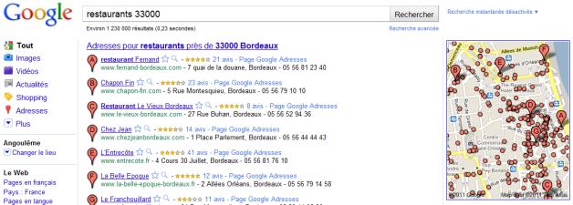 Google Place: Faits et Impacts sur le référencement de votre Site