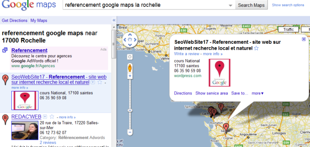 referencement sur google maps la rochelle